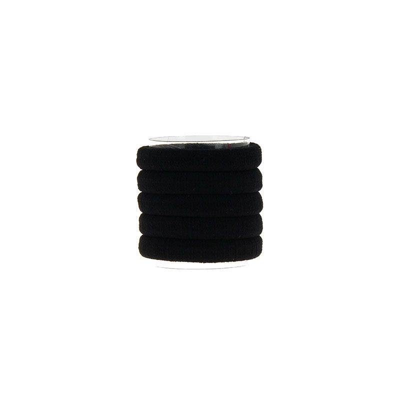 Coiffeo Elastique cheveux Nylon Noir x5, Elastique