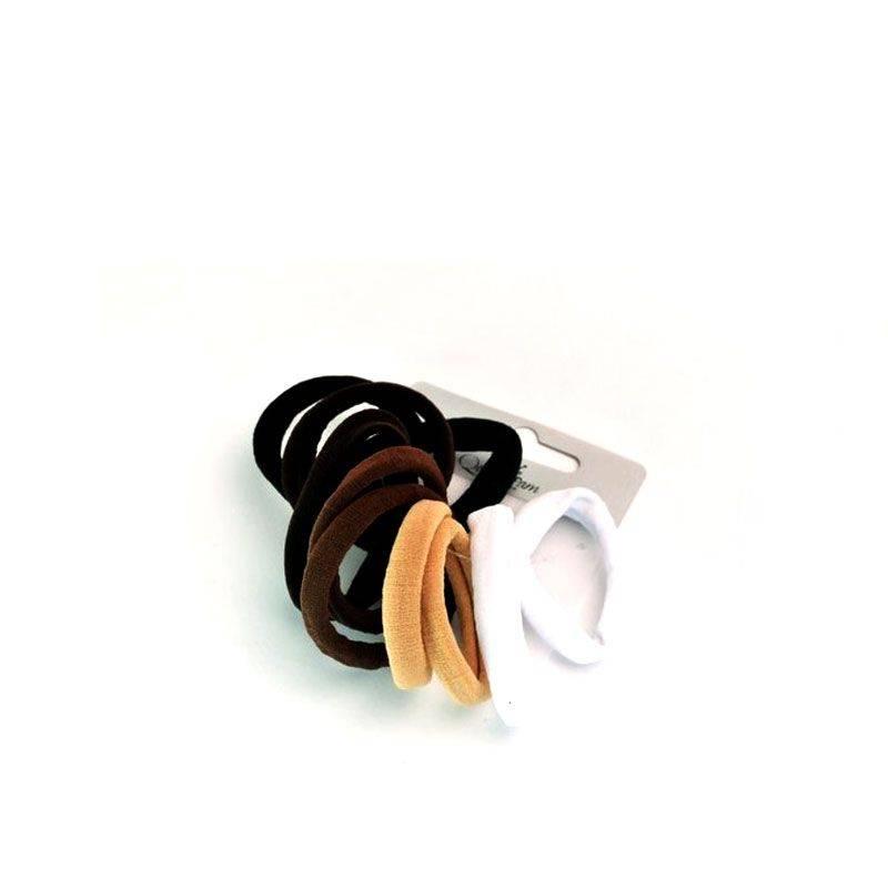 Queen Pam Elastiques sans métal Noir & marron x10, Elastique