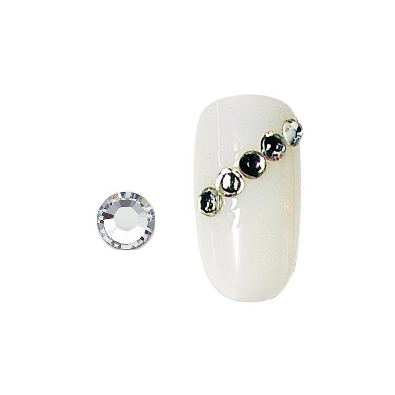 Peggy Sage Strass pour ongles x20 Argent, Nail Art Strass