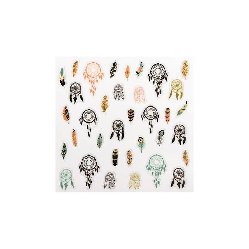Peggy Sage Décors adhésifs pour ongles Indien, Sticker décoratif