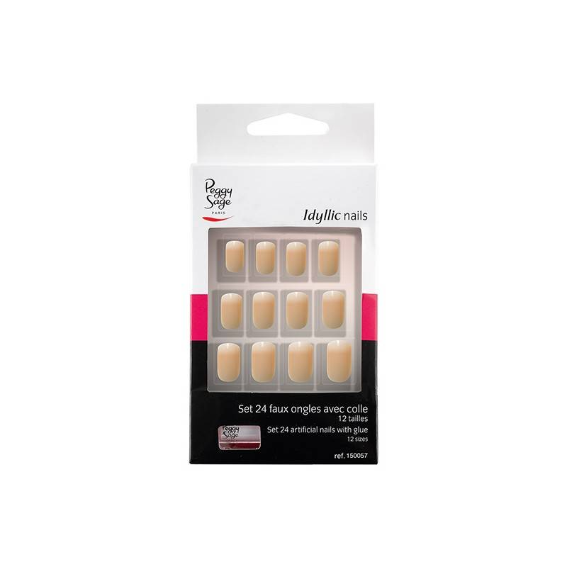 Peggy Sage Faux ongles Idyllic nails Set x24 Baby boomer, Faux-ongles