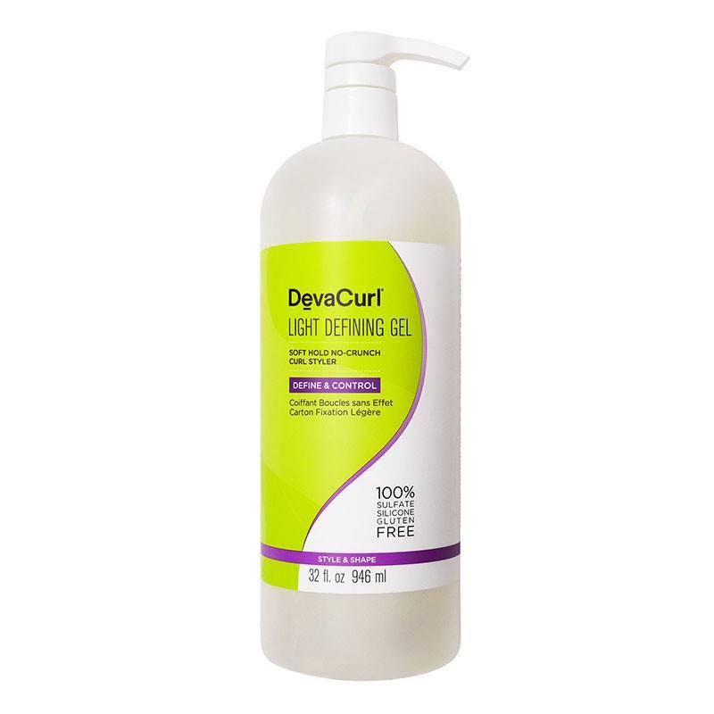 DevaCurl Light Defining Gel coiffant fixation legère boucles 946ML, Crème cheveux