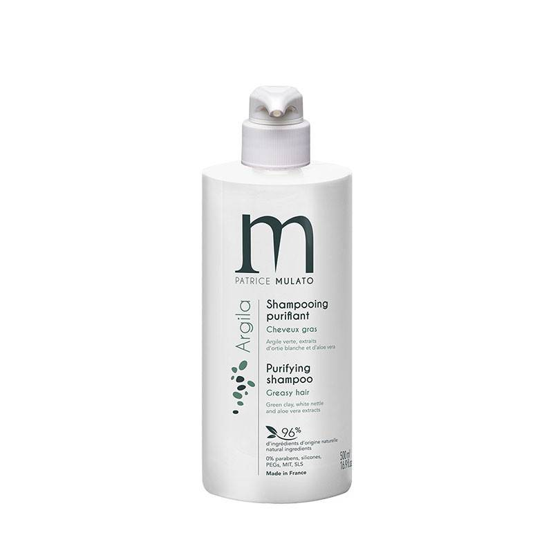 Mulato Shampooing purifiant argile verte Argila 500ML, Shampoing traitant